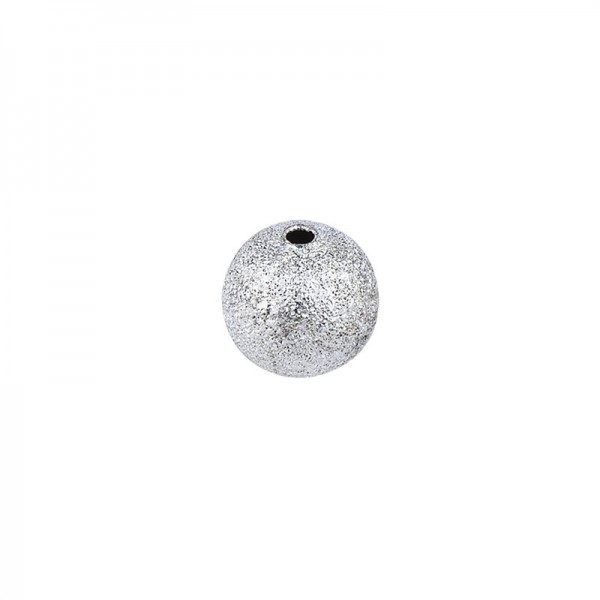 Perlen, Diamantiert, Ø 6mm, silber, 150 Stück