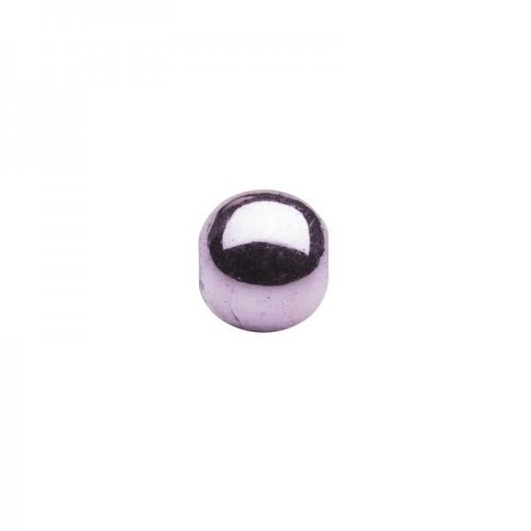 Metallic-Perlen, Ø6 mm, 50 Stück, rosé