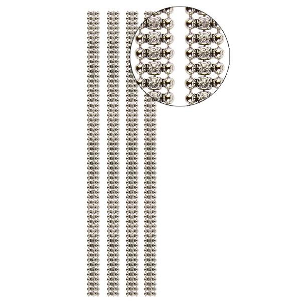 Premium-Schmuck-Bordüren Charme, 28cm, mit Glas-Kristallen, hellgold