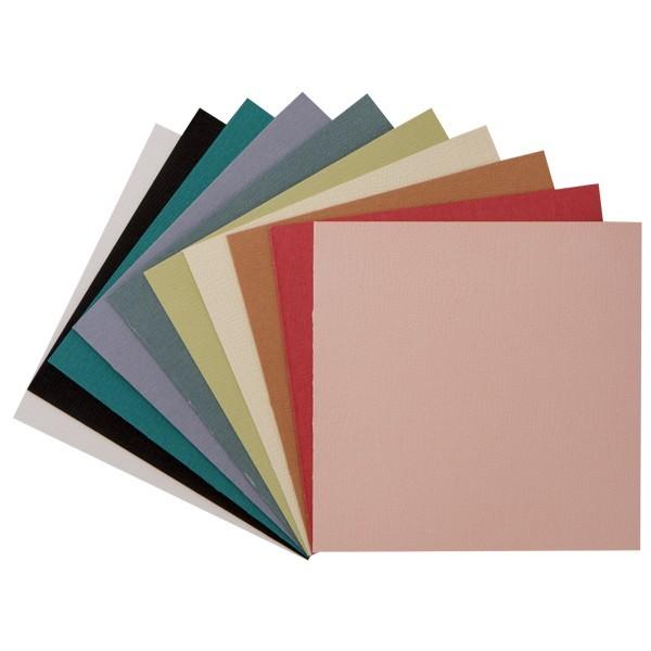 """30er Grußkarten-Set, """"Borneo"""", 13x13 cm, 10 Farben"""