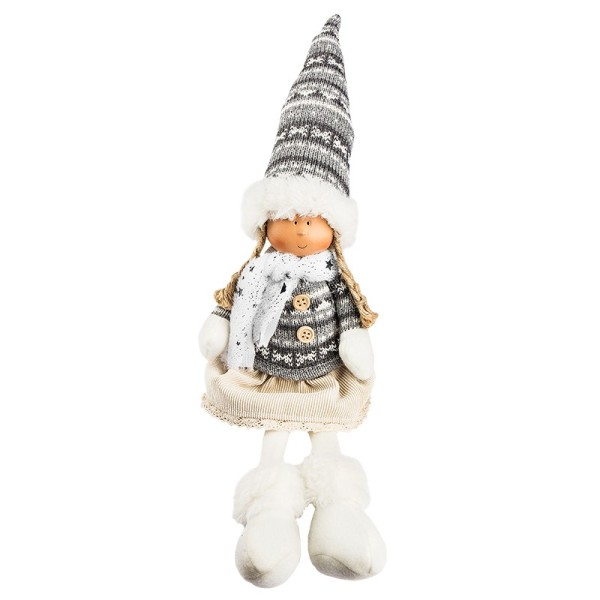 Deko-Puppe, Lilly, sitzend: 28cm x 10cm x 8cm, mit Schlenkerbeinen