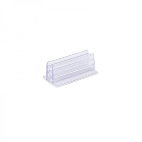 Kartenhalter mit Klemmwirkung, transparent, 2,5cm, selbstklebend, 5 Stück