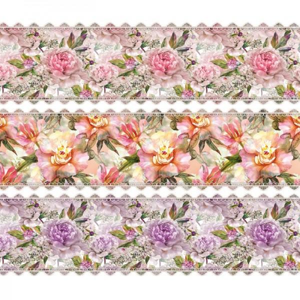 """Zauberfolien """"Blüten-Aquarell"""", Schrumpffolien für Ø8cm, 7,5cm hoch, 6 Stück"""