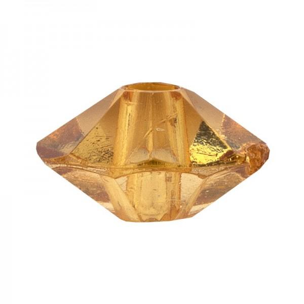 Facetten-Perlen, transparent, Ø6mm, bernstein, 100 Stück