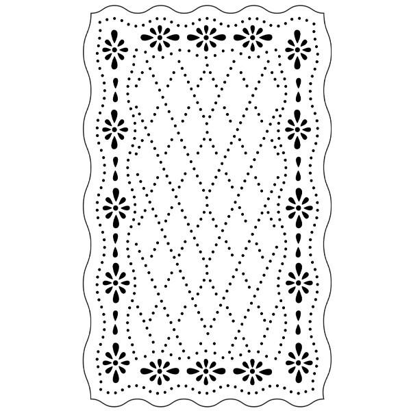 Präge-/Prickelschablone, 9,3cm x 14,8cm, Design 11
