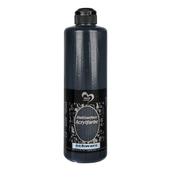"Acrylfarbe ""Multisurface"", schwarz, 500ml"