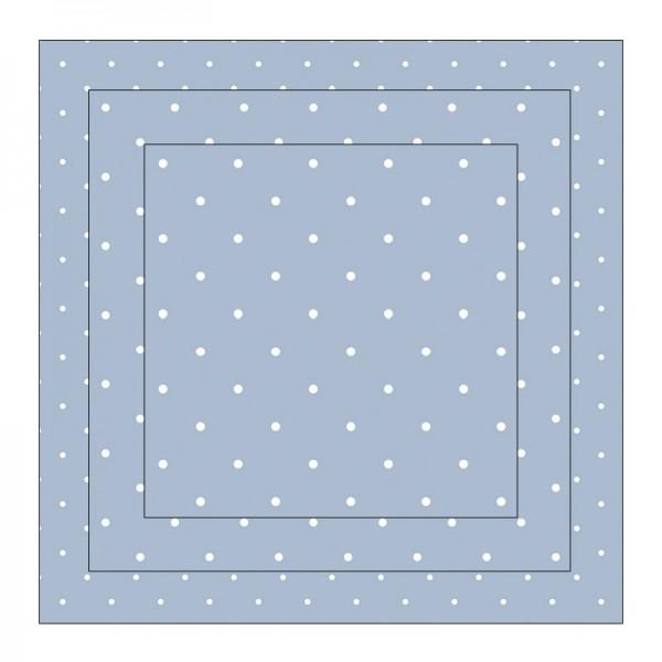 Faltpapiere, Duo-Design 9, 110 g/m², Punkte/blau, 150 Stück