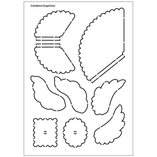 Design-Schablone, Engelchen, DIN A4