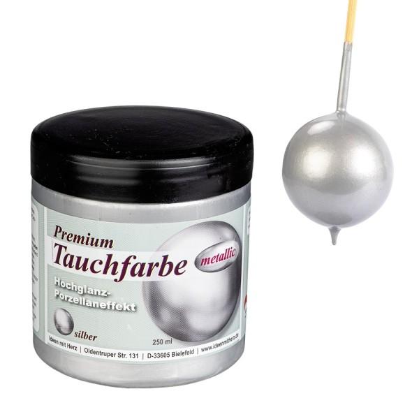 Premium-Tauchfarbe, metallic, silber, 250ml