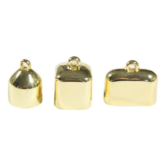 Schal-Endkappen, goldfarben, 6 Stück