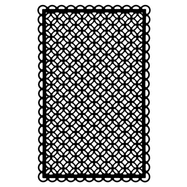 Stanzschablone, Zierdeckchen 7, 13,7cm x 8,8cm