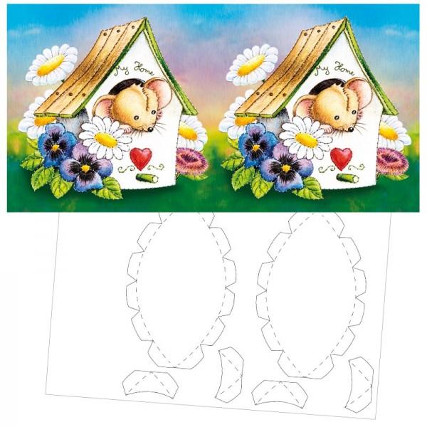 Prickel-Karte, Jolly Jo, inkl. Böden & Ecken, 16cm x 16cm