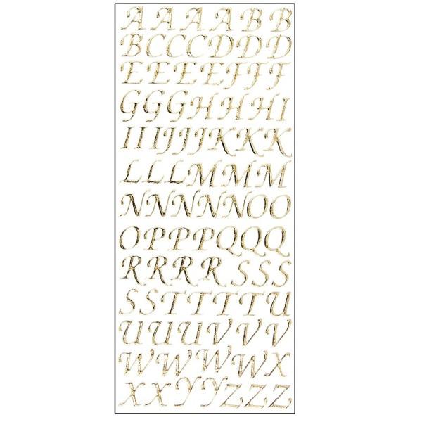 Microglitter-Sticker, Alphabet, Großbuchstaben, gold