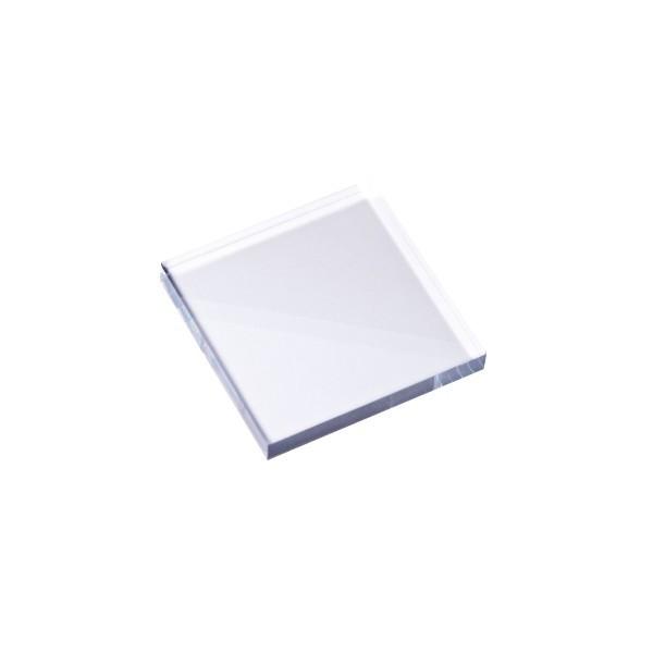 Stempel Block, 4 x 4 x 0,5 cm, transparent