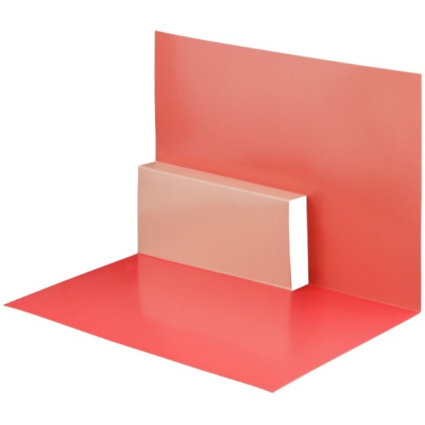 Pop-Up-Grußkarten-Einleger, gefaltet 11 x 15,5 cm, Design 16, rot