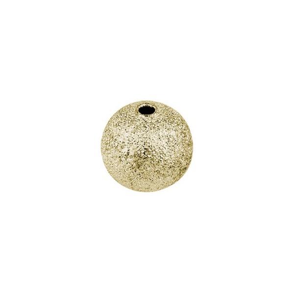 Perlen, Diamantiert, Ø 8mm, gold, 95 Stück