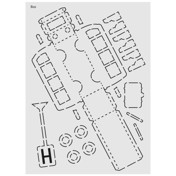 "Design-Schablone Nr. 5 ""Bus"", DIN A4"