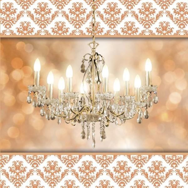 Lichteffekt-Grußkarte Kronleuchter, 16 x 16 cm