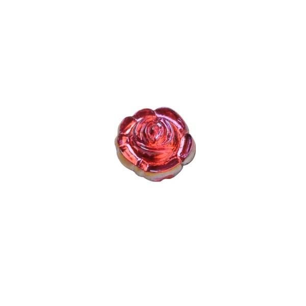 Glitzersteine, Rosen, Ø0,7cm, 100 Stück, alt-rosé