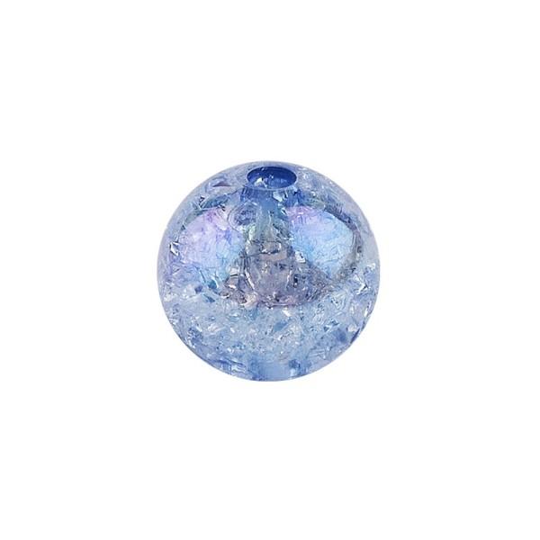Perlen, Crackle, Ø 6mm, blau-irisierend, 150 Stk.