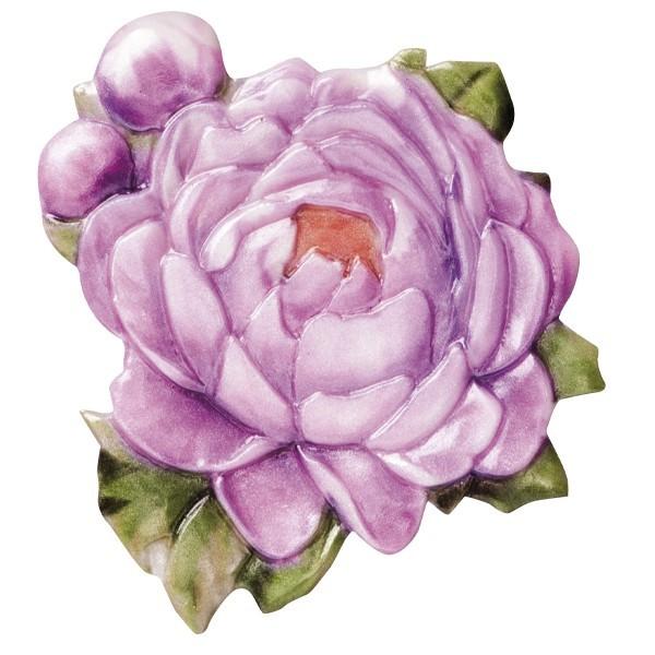 "Wachsornament ""Blüten de luxe"" 9, farbig, geprägt, 6-7cm"