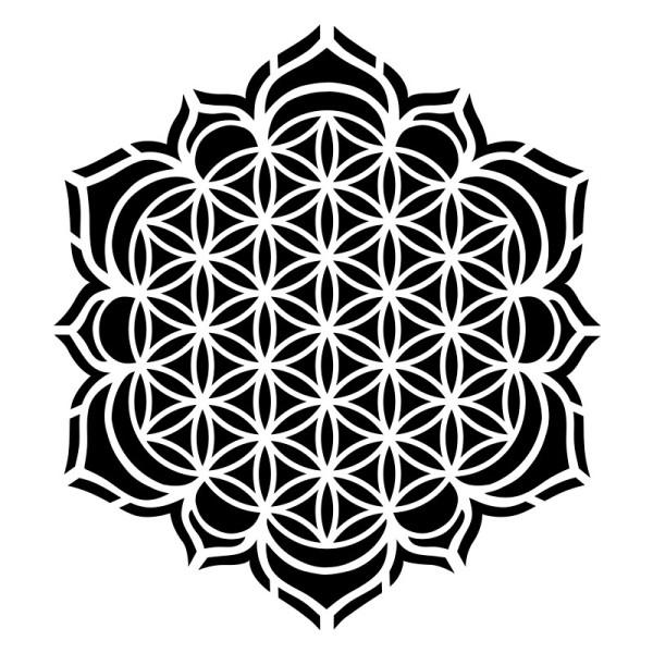 Laser-Kunststoff-Schablone, DIN A4, Blume des Lebens