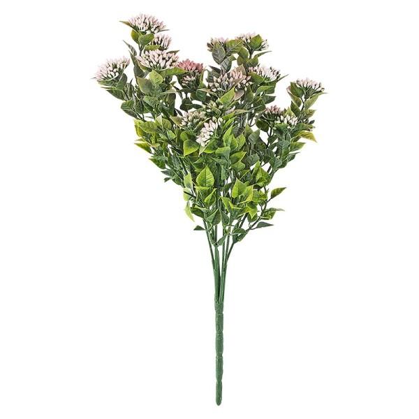 Deko-Busch, Blüten 1, 35cm lang, 6 Stängel, rosa Blüten