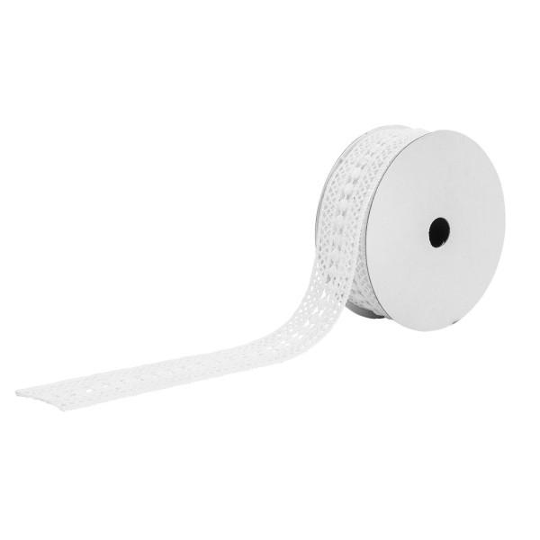 Spitzenband, Design 2, 1,5cm breit, 3m lang, weiß