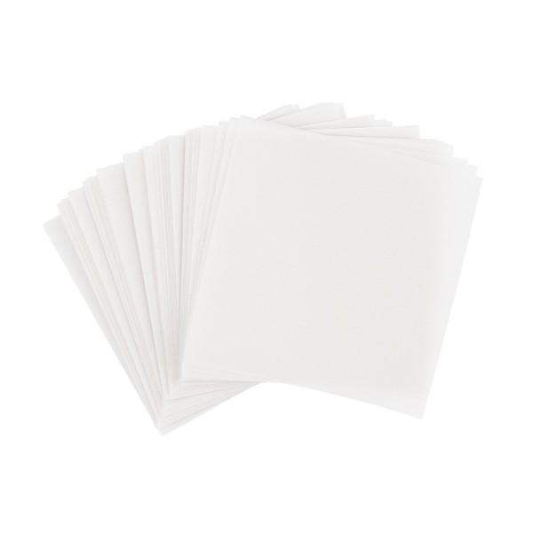Faltpapiere, transparent, 10cm x 10cm, 110 g/m², weiß, 100 Stück