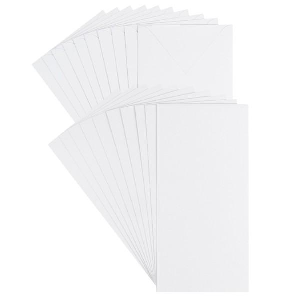 Grußkarten, Perlmutt, 10,5cm x 21cm, 250 g/m², weiß, inkl. Perlmuttpapier Umschläge, 10 Stück