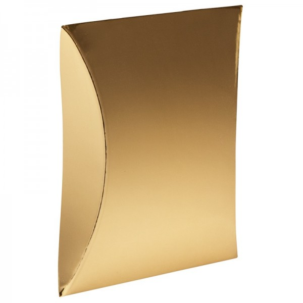 Kissentaschen, 10,4 cm x 15 cm, Spiegelkarton, gold, 10 Stück