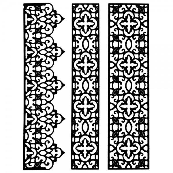 Stanzschablonen, Bordüren 9, 3 Stück