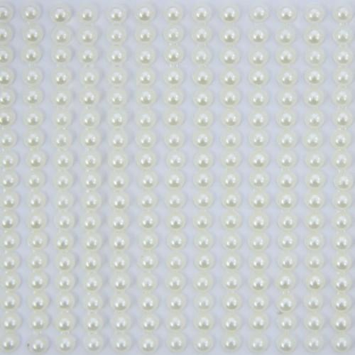 Halbperlen-Bordüren, selbstklebend, Ø5mm, 9cm, perlmutt, 41Stk