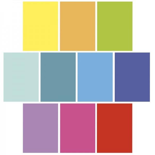 Deko-Karton, Einfarbig-Intensiv, DIN A3, 10er Set