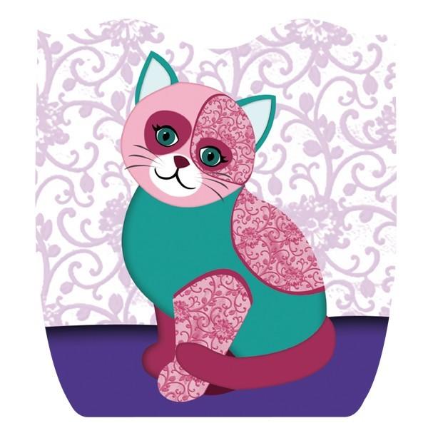 Deko-Bild, Katze II, 18 x 16,5 cm, 2er Set
