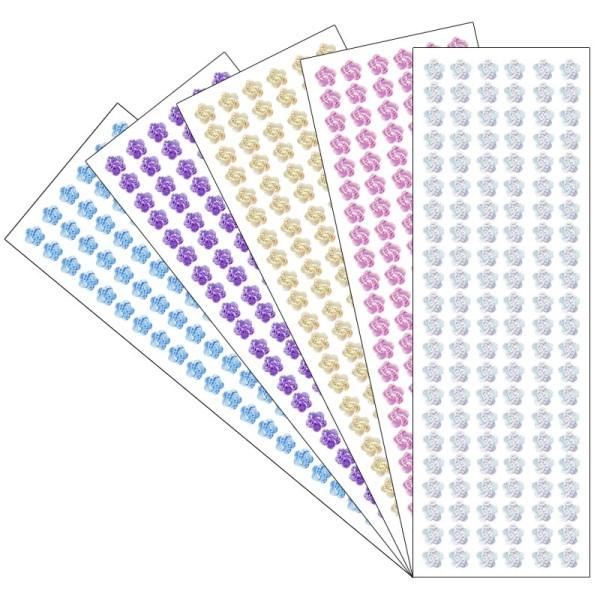 Kristallkunst, Schmuckstein Blüte 10, 10cm x 30cm, selbstklebend, verschiedene Farben, 5 Stück
