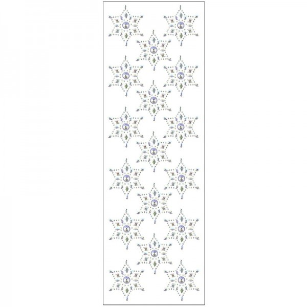 Kristallkunst, Stern-Ornament, 10cm x 30cm, selbstklebend, klar irisierend