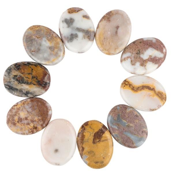 Natursteine aus Marmor, poliert, 5 x 4 cm, 10er Set