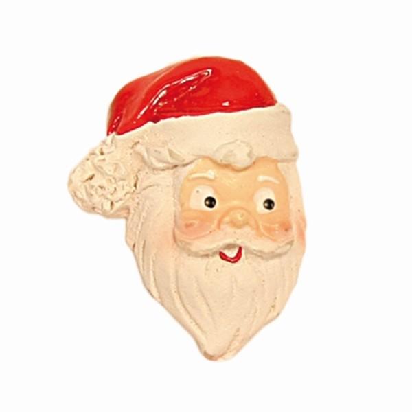 Relief-Weihnachtsmannköpfe, 3 x 2 cm, 10 Stück