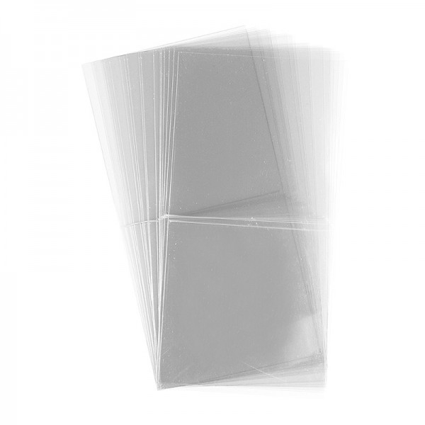 Folien-Grußkarten, 11,7cm x 11,7cm, transparent, 130µ, 20 Stück