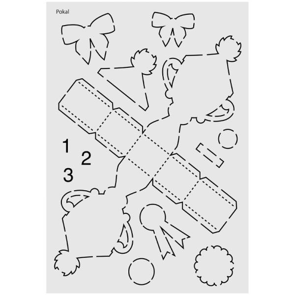 "Design-Schablone Nr. 10 ""Pokal"", DIN A4"