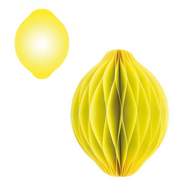 Waben-Stanzteile, Zitrone, 9,1cm x 6,8cm, 100 Stück