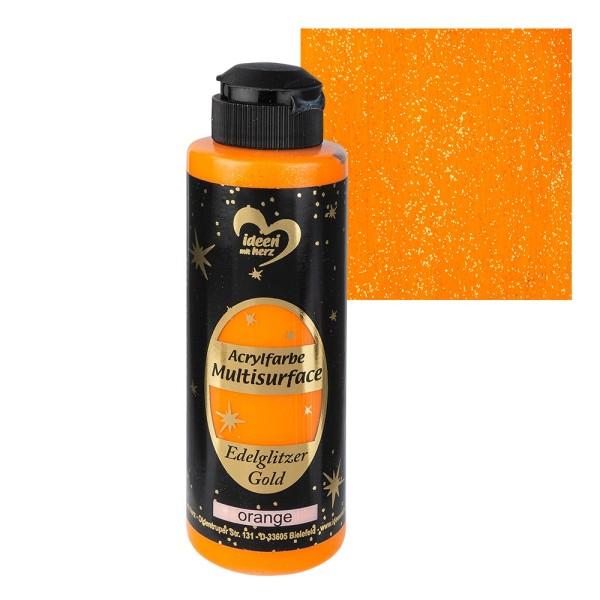 "Acrylfarbe ""Multisurface"", Edelglitzer Gold, orange, 180ml"