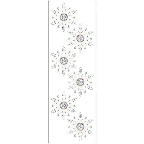 Kristallkunst, Ornament 5, 10cm x 30cm, selbstklebend, klar irisierend, perlmutt