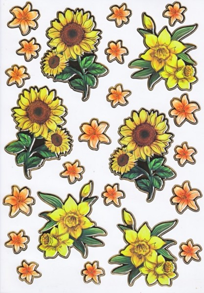 Ultra Gloss Sticker Bogen, Sonnenblume