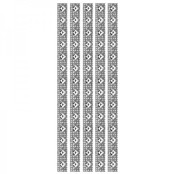 Royal-Schmuck, 5 selbstklebende Bordüren, 29 cm, klar