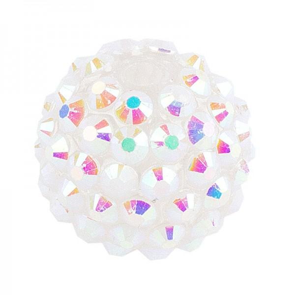 Kristall-Perlen, Ø 18mm, weiß-irisierend, 10 Stück
