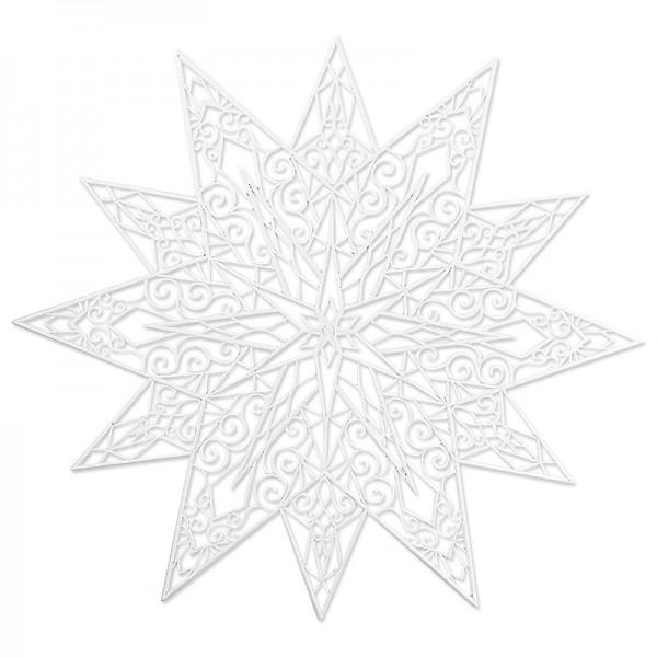 Winter-Deko, Rohling, Stern 1, 44,5cm x 44,5cm, weiß