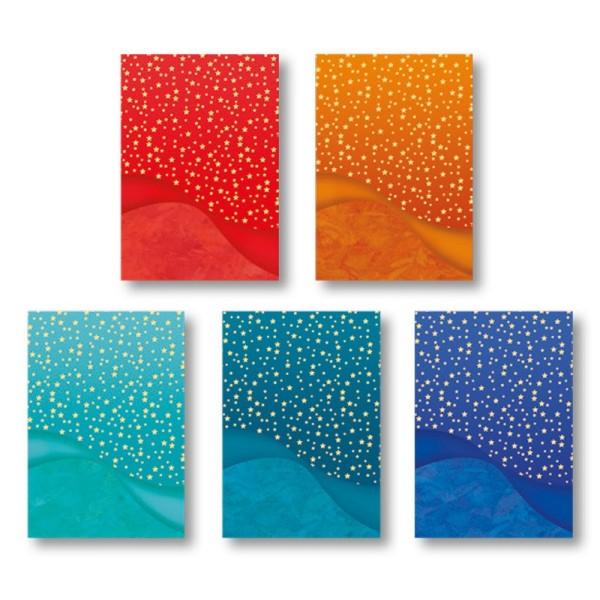 """Motiv-Grußkarten, Schwung """"Sternenhimmel"""", B6, inkl. Umschläge, 10 Stück"""