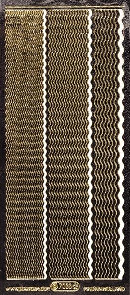 Microglitter-Sticker, Wellen-Linien, 3 Breiten, anthrazit